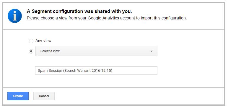 Google Analytics Spam Segment