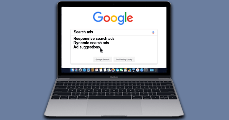 a laptop computer open to the Google search page