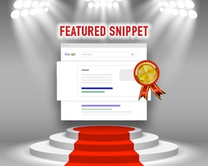 featured Google listing graphic with award banner as prize